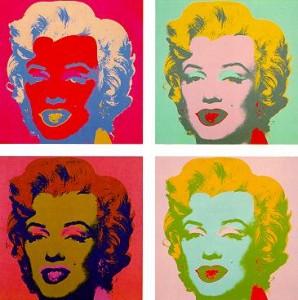 Amdy Warhol Marilyn Portrait