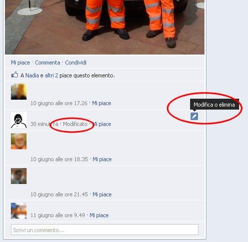 Modificare i commenti di Facebook