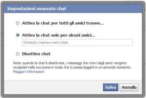 facebook liste chat
