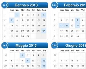Calendario 2013 online