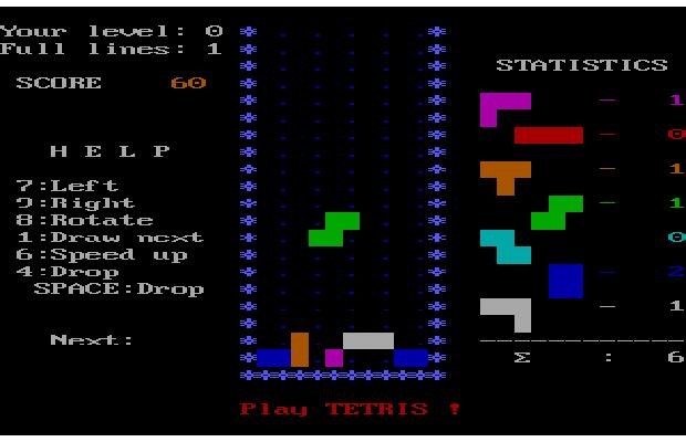 Tetris retrogame