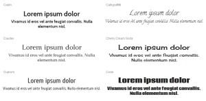 Scegliere i font da usare