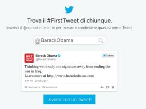 Trova il primo Tweet