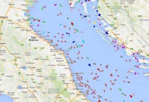 Mappa del traffico marittimo