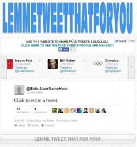 realizzare un falso tweet