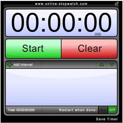 Orologio segnatempo online