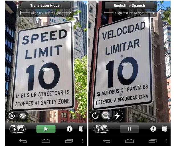 Traduzioni con Google Word Lens