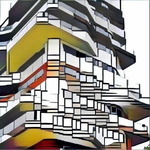 L'immagine elaborata con Prisma senza logo