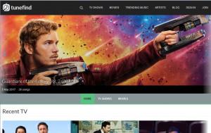 tunefind, database delle canzoni di film e telefilm