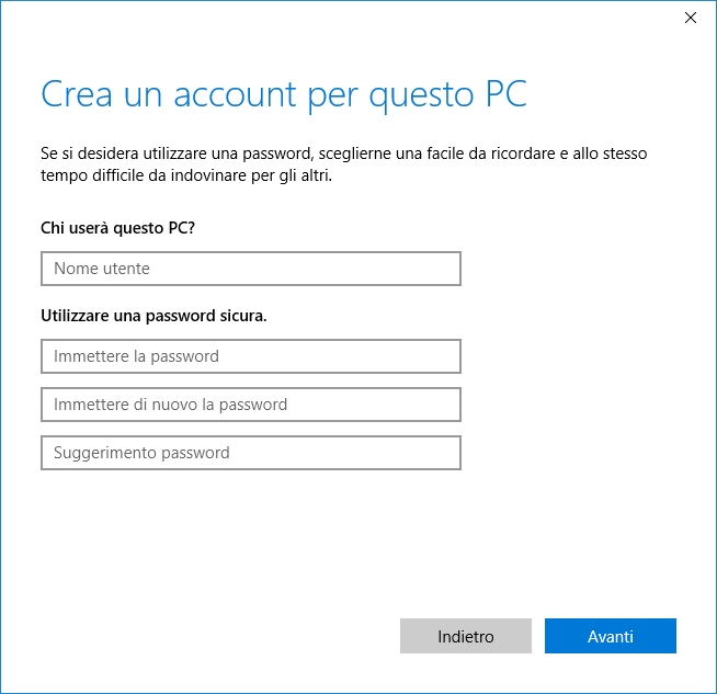 Account locale in Windows 10
