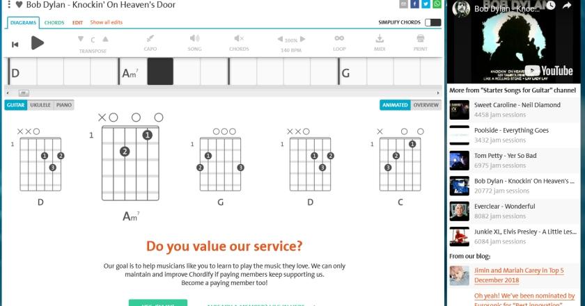 Trasforma la musica online in accordi per chitarra - A finestra accordi ...